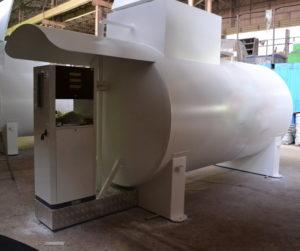 Резервуар топливный наземный белый